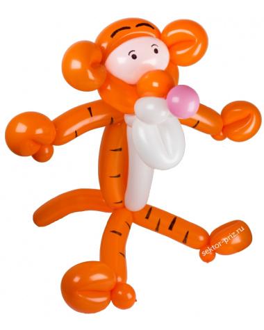 Фигуры из воздушных шаров, Фигура из шаров «Тигр»