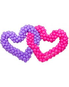 Фигуры из воздушных шаров, Фигура из шаров «Двойное сердце»