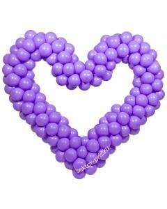 Фигуры из воздушных шаров, Фигура из шаров «Сердце на каркасе»