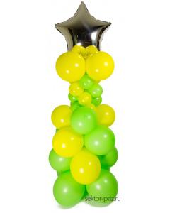 Фигуры из воздушных шаров, Стойка из шаров «Весенняя»