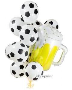 Воздушные шары с гелием, «Футбольные мячи с пивом» - шары с гелием