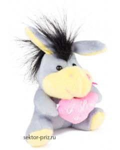 Мягкие игрушки, Мягкая игрушка «Ослик с сердцем»