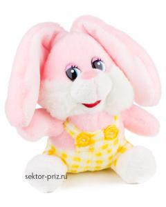 Мягкие игрушки, Мягкая игрушка «Заяц в желтом комбинезоне»