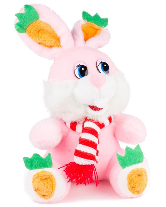 Игрушка «Зайчик в шарфике розовый»