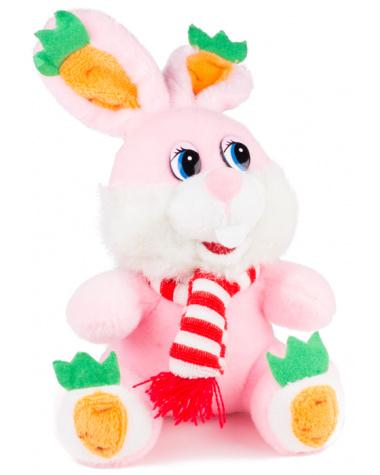 Мягкие игрушки, Мягкая игрушка «Зайчик в шарфике розовый»